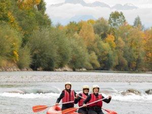 Canadier Rafting auf der Iller