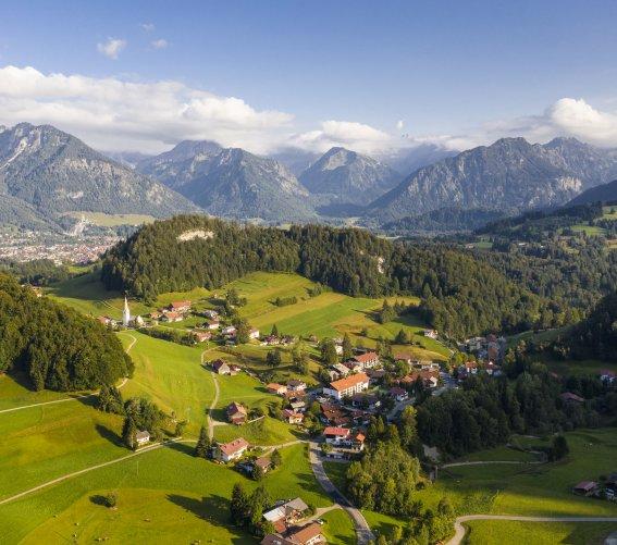 Tiefenbach aus der Luft