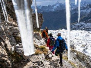 Winterliche Verhältnisse auf dem Hindelanger Klettersteig