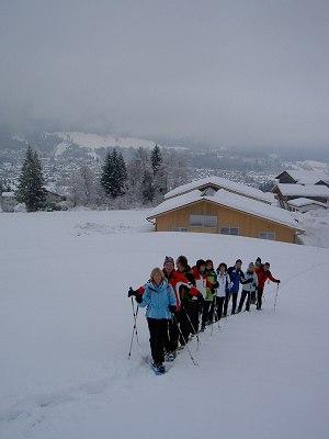 Eine traumhafte Schneeschuhtour