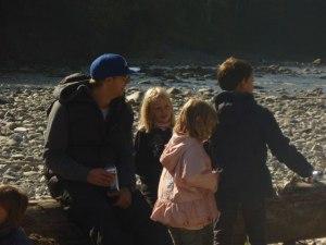 Thilo vom Hotel Oberstdorf unterwegs mit den Kids