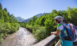 Kurze Pause genießen bei einer Biketour durch Oberstdorf