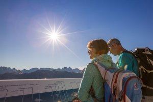 Blick auf die Gipfel der Allgäuer Alpen
