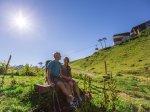 Zeit zu Zweit im Sommerurlaub in den Bergen