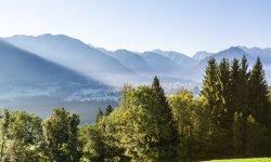 Blick auf das morgendliche Oberstdorf