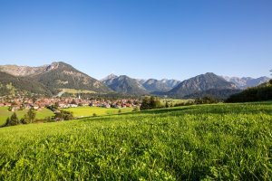 Oberstdorf in den Allgäuer Alpen