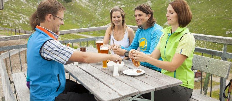Ein Bayerisches Weißwurstfrühstück auf dem Nebelhorn