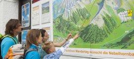 Alles auf einen Blick an der Nebelhornbahn