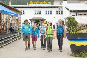 Los geht's! Mit der Nebelhornbahn geht es hoch hinaus!