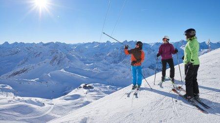 Skifahren vor traumhaftem Panorama am Nebelhorn