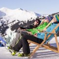 Entspannung auf dem Liegestuhl