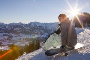 Sonnen, Schnee und Snowboard