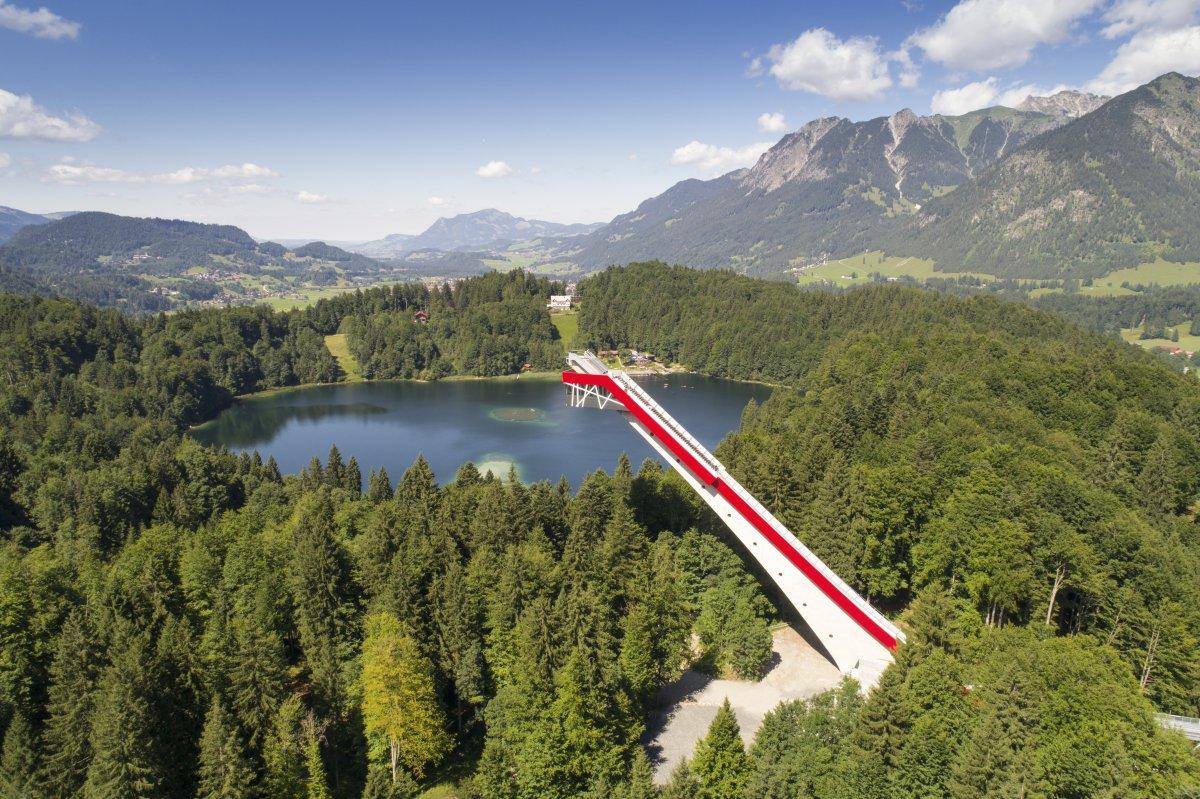 Klettersteig Oberstdorf : Klettersteig klettern hindelang rf video in k