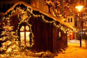 Alles erstrahlt im weihnachtlichen Glanze