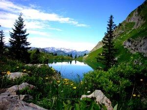 Der Seealpsee am Nebelhorn