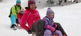 Frisch präpariert - die Naturrodelbahn am Nebelhorn