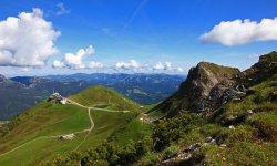 Blick auf die Kanzelwand Bergstation