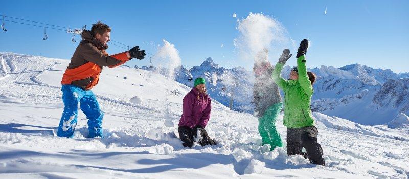 Spaß im Schnee in den Allgäuer Alpen