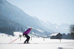 Langläuferin in Oberstdorf