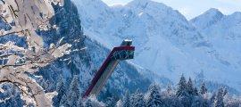 Die imposante Skiflugschanze in Oberstdorf