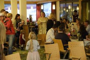 Das Christkind zu Besuch im Hotel Oberstdorf