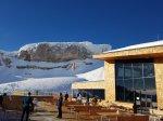 Die Bergstation der neuen Ifenbahn mit traumhaften Blick