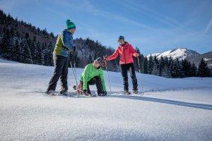 Bereit für die heutige Schneeschuhtour?