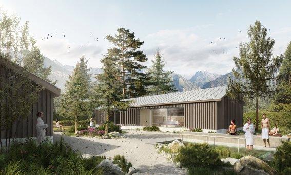 Visualisierung Saunagarten