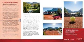 Flyer Tennisplätze am Fuggerpark