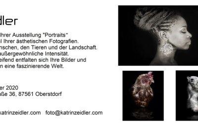 Flyer - Ausstellung Katrin Zeidler