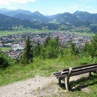Blick vom Stützel auf Oberstdorf