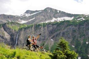 Mountainbiketour an der Käseralp