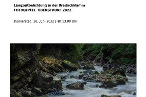 Oberstdorfer Fotogipfel - Infoblatt Langzeitbelichtung Breitachklamm