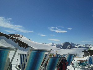 Sonnenbaden auf dem Nebelhorn