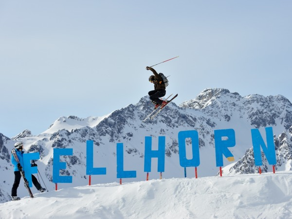 Skifahrer im Funpark Fellhorn