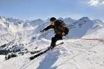 Skifahrer im Skigebiet Fellhorn/Kanzelwand