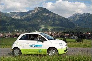 Ein Elektroauto für Oberstdorf