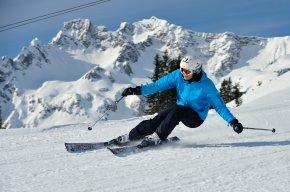 Skifahrerin am Fellhorn