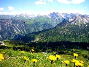 Bergpanorama am Fellhorn