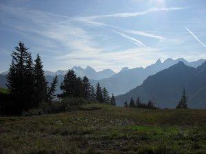 auf dem Weg zur Fiderepaßhütte