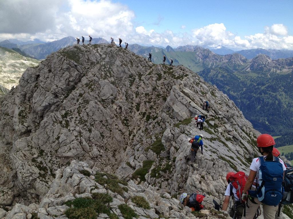 Klettersteig Oberstdorf : Klettersteig schnupperkurs