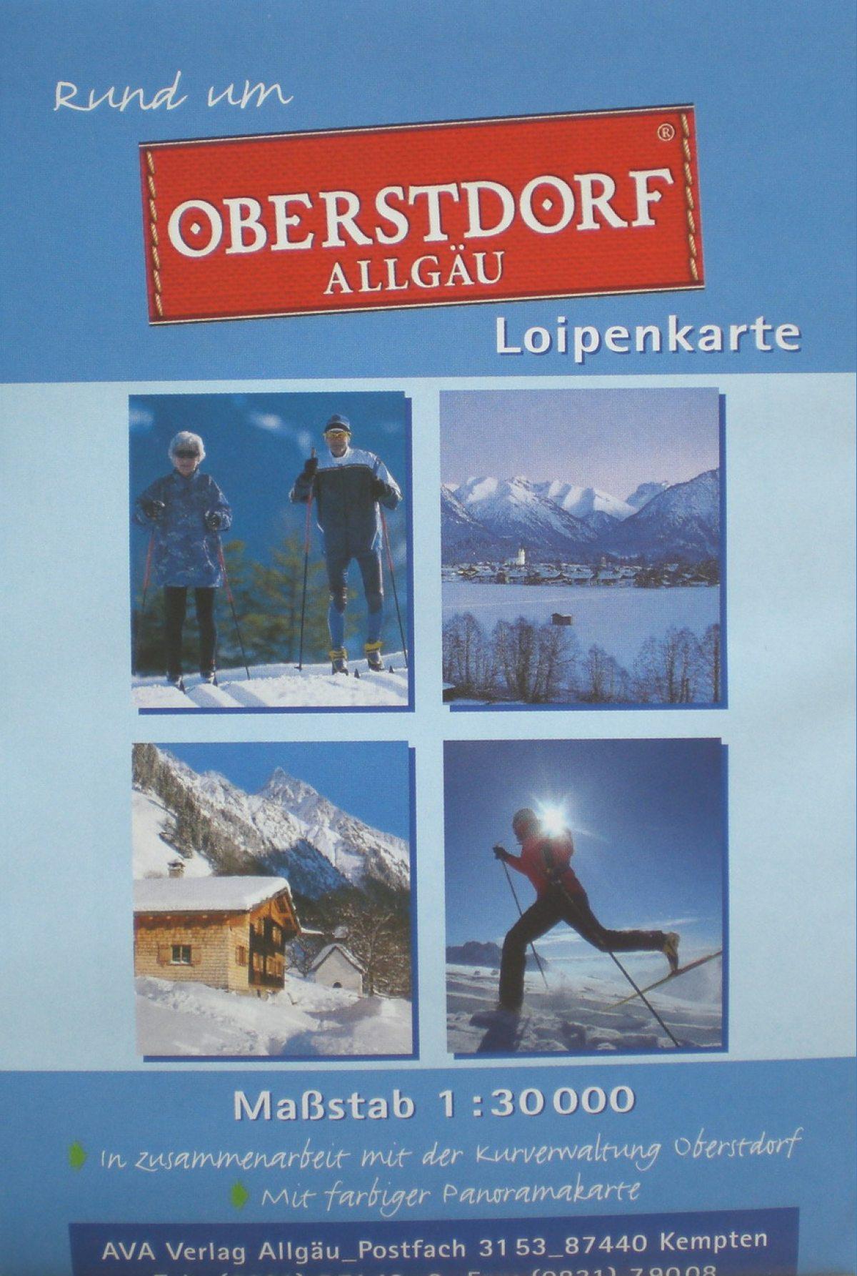 Loipenkarte Oberstdorf