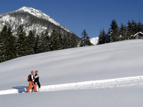 Winterwanderer am Kühberg