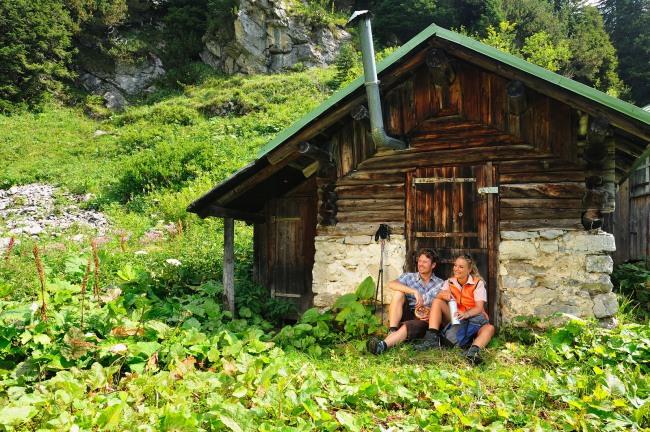Pause an der Hütte