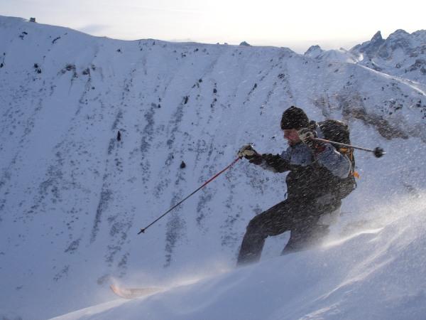 Telemark im Pulverschnee