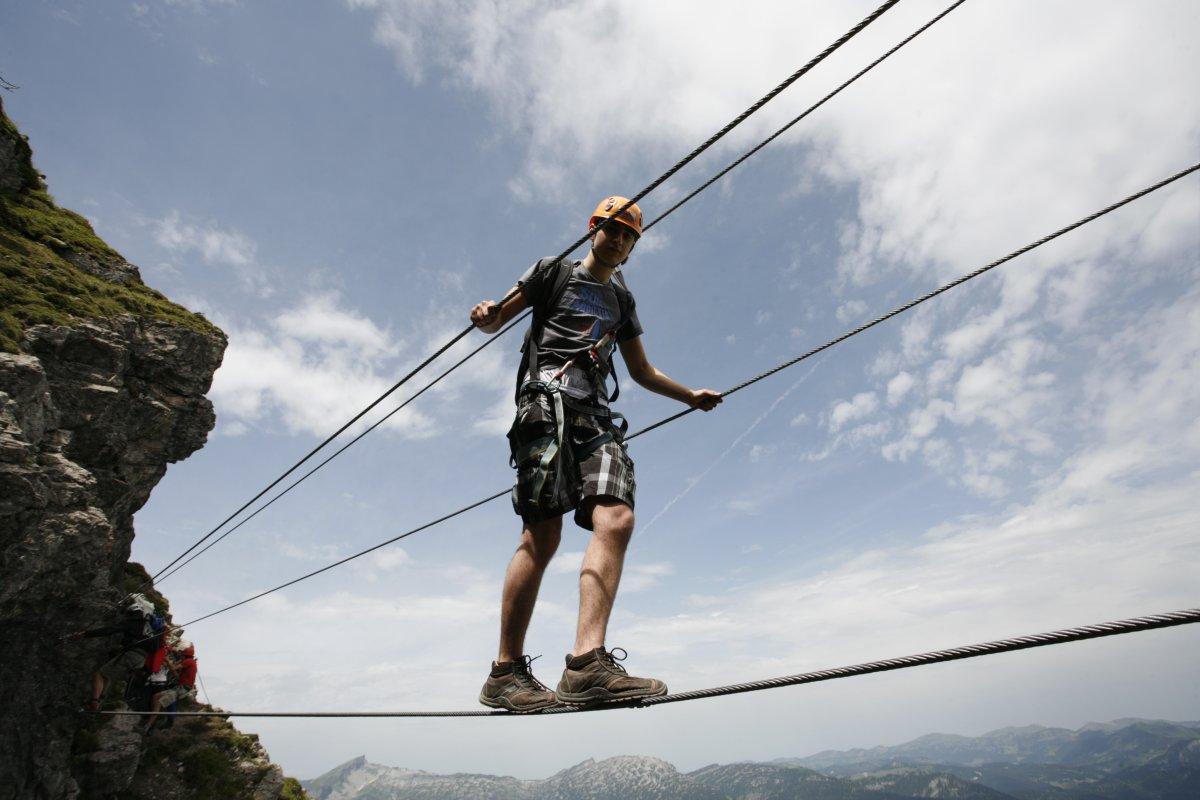 Klettersteigset Mit Seilbremse : Klettersteige in oberstdorf im allgäu