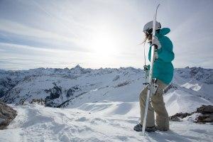 Ausblick im Skigebiet Nebelhorn