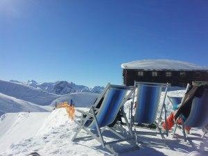 Liegestühle am Nebelhorn