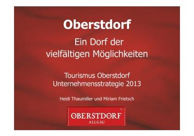 Unternehmenstrategie Tourismus Oberstdorf