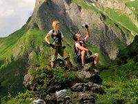 Mountainbike Käseralpe hoch Tourismus Oberstdorf